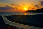 由比ヶ浜の夕日1