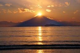 ダイヤモンド富士 逗子海岸